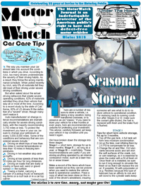 The MotorWatch Journal aims to protect the American public's right to have safe defect-free motor vehicles. Click here to learn more.