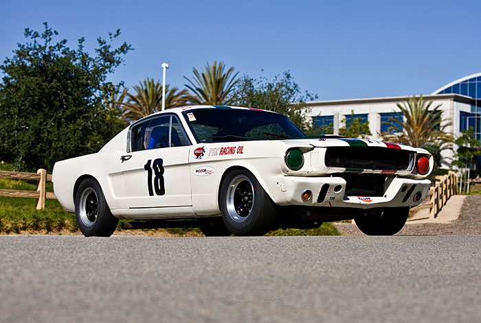 """This 1965 Shelby GT 350R is the ultimate derivation of the GT 350. There were only 26 """"R"""" – for racing – models made, so almost every one you've seen on the track at historic events is probably a clone. This is the real thing with history; it breathes fire and makes you deaf – the whole package."""
