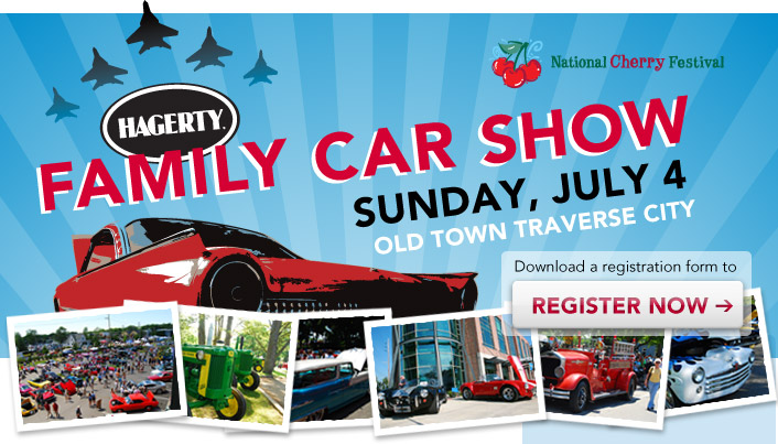 Hagerty Family Car Show - Sunday, July 4th - Old Town Traverse City