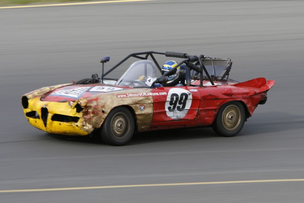Ecurie Ecosse's ailing 1971 Alfa Romeo Spider has run more total LeMons races than just about anything.