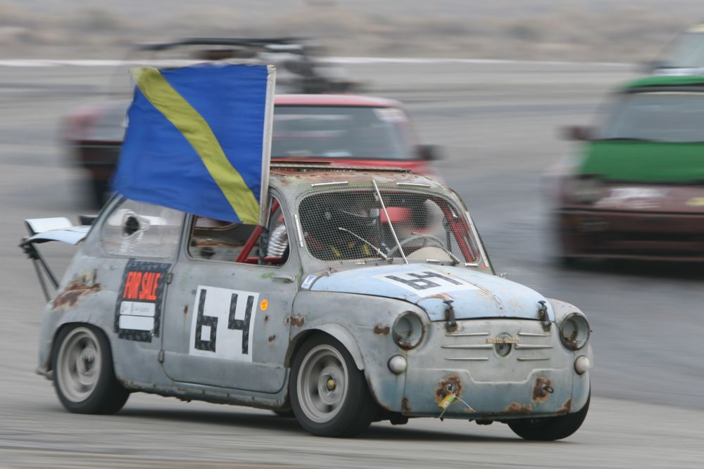 The Italian Stallions recently upgraded to a roached-out Fiat 600D powered by a 1000cc V-Twin motor out of a Moto Guzzi motorcycle.