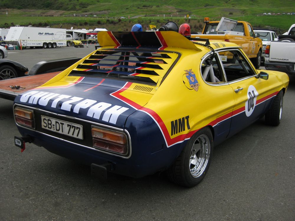This 1974 Capri runs under the Mad Maxel Tov banner, which features a gang of post-apocalyptic Orthodox Jews.