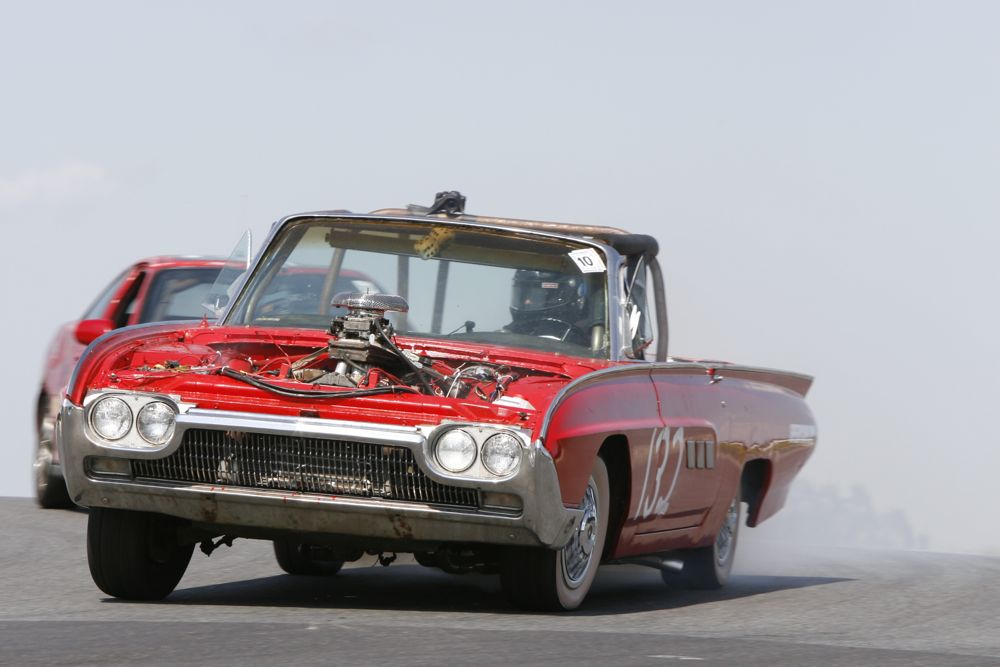 Police Brutality has fielded a string of memorable LeMons machines, including this 1963 Ford Thunderbird.