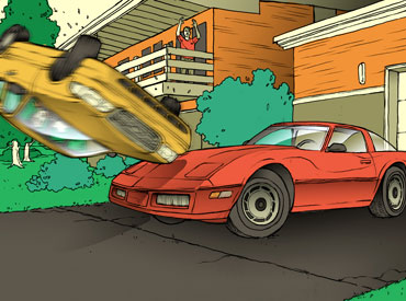 Losses and Lessons: Crown Vic flips over classic Corvette thumbnail