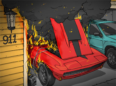 Electrical short burns classic Corvette thumbnail
