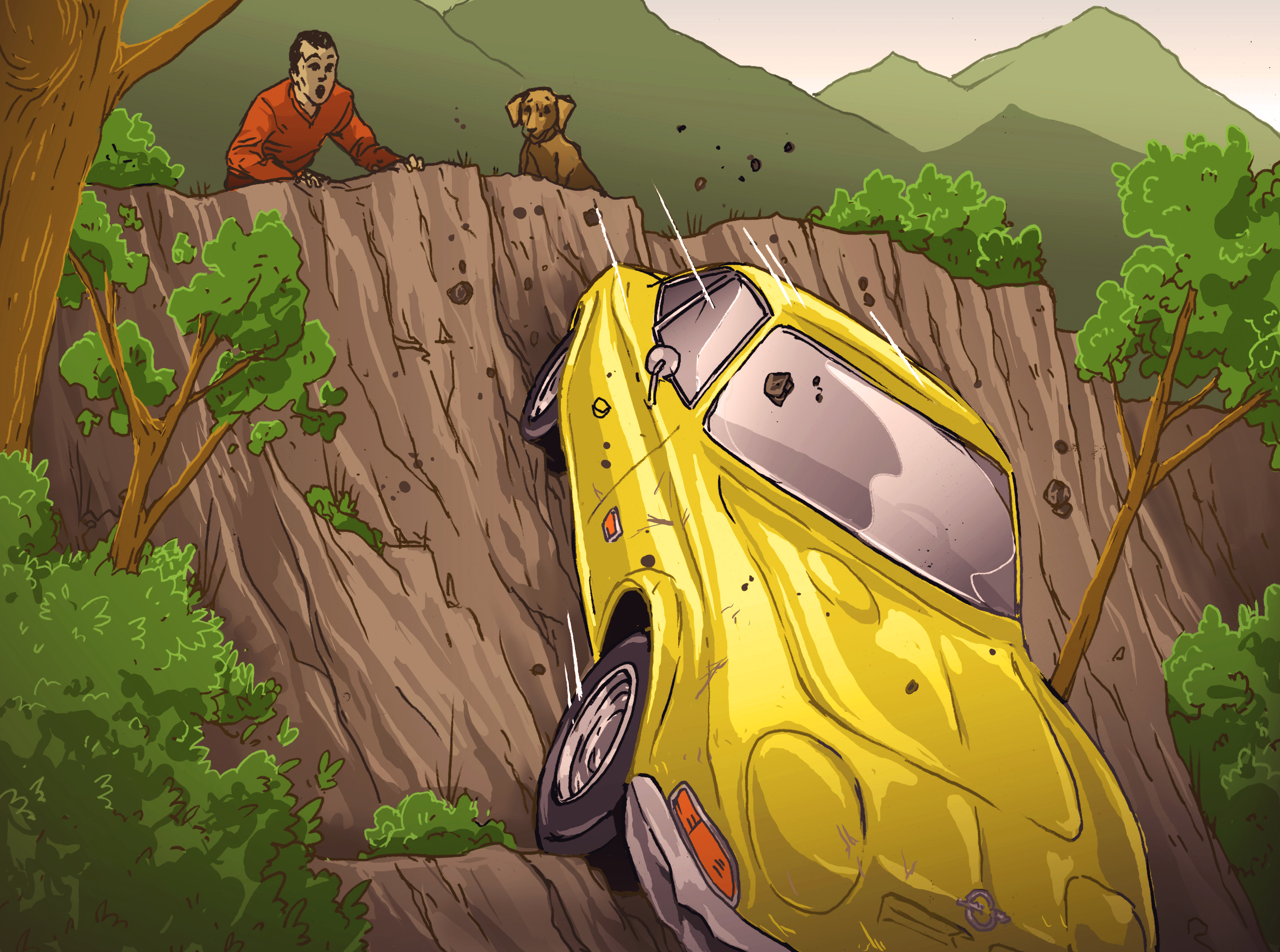 Losses and Lessons Cliffhanger: '69 Opel owner and his dog escape just in time thumbnail