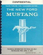 1964 Mustang Press Packet