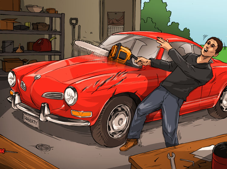 Losses and Lessons: Chainsaw takes a bite out of '70 Karmann Ghia thumbnail