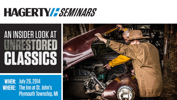 You're invited to free seminars about unrestored cars thumbnail