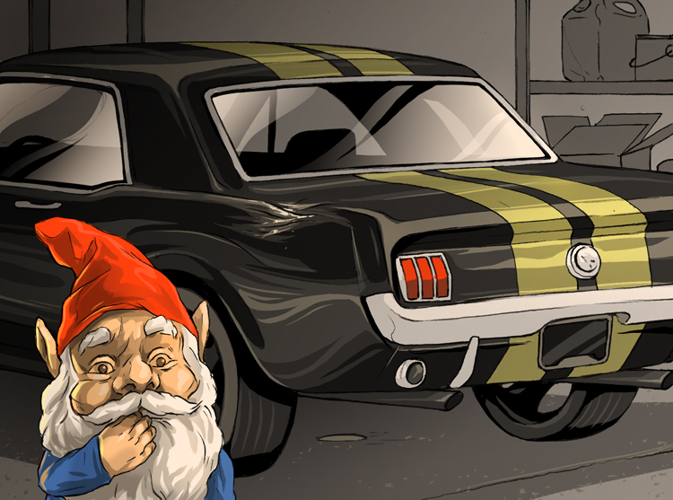 Losses and Lessons: '66 Mustang could have used gnome-owners insurance thumbnail