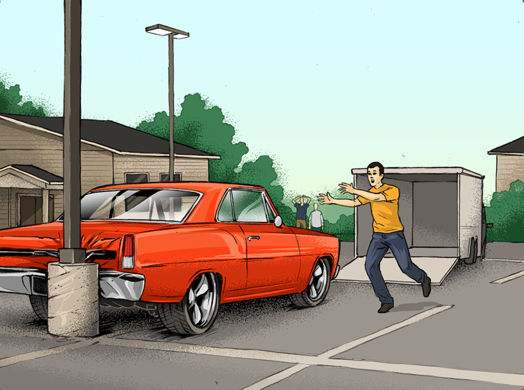 Losses and Lessons: Trailered Nova II fights gravity, then sees the light (pole) thumbnail