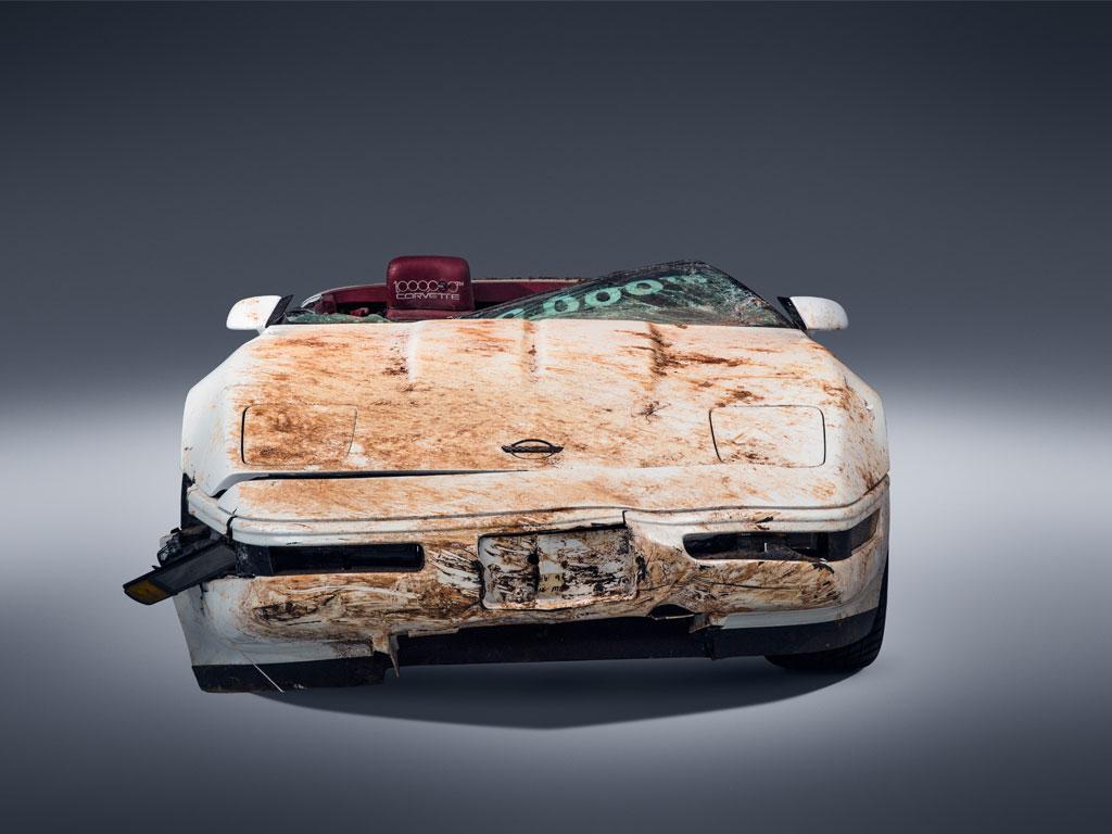Restored 1 millionth 'Vette, damaged by sinkhole, returns to National Corvette Museum thumbnail
