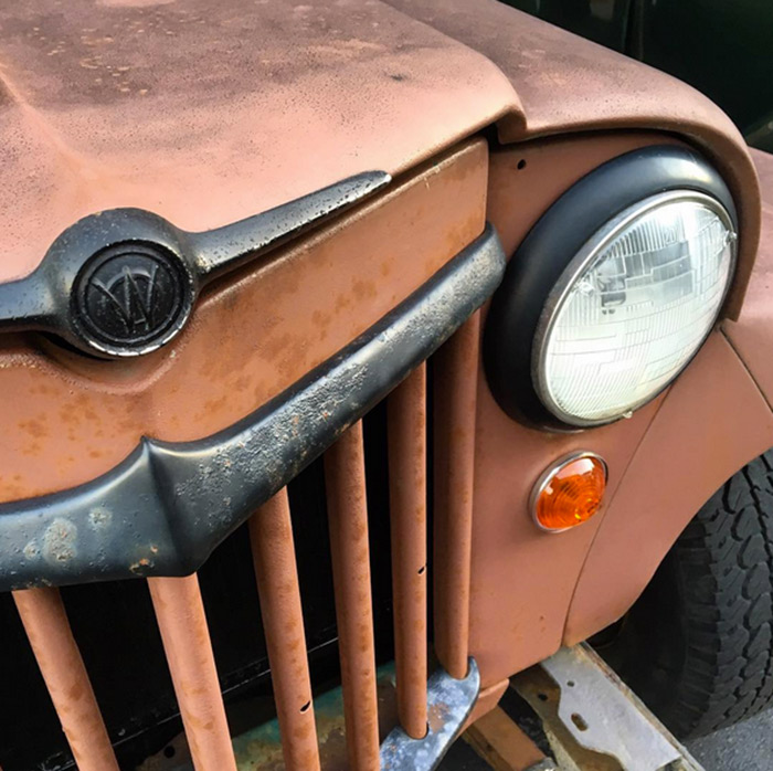1961 Willys Jeep front detail