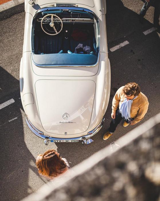 Mercedes-Benz 300SL convertible top view