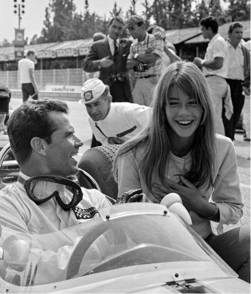 James Garner and Francoise Hardy