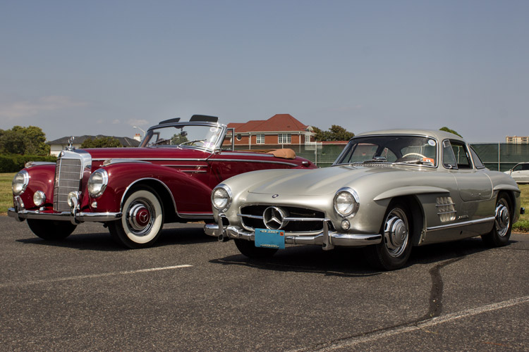 Red and Silver Mercedes-Benz