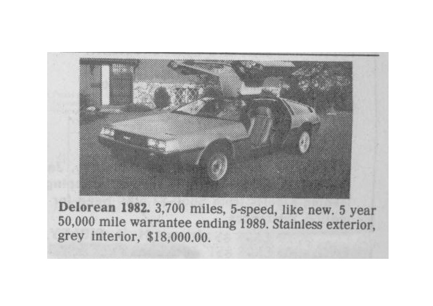 Classic Classified: 1982 DeLorean DMC-12 thumbnail