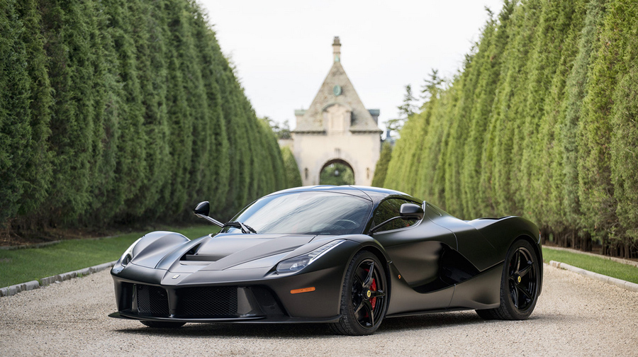 laferrari for sale, laferrari auction, laferrari monterey, black laferrari, mecum monterey 2016