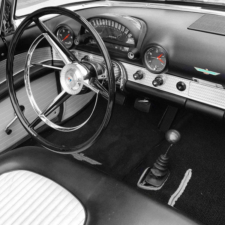 1956 Ford Thunderbird interior
