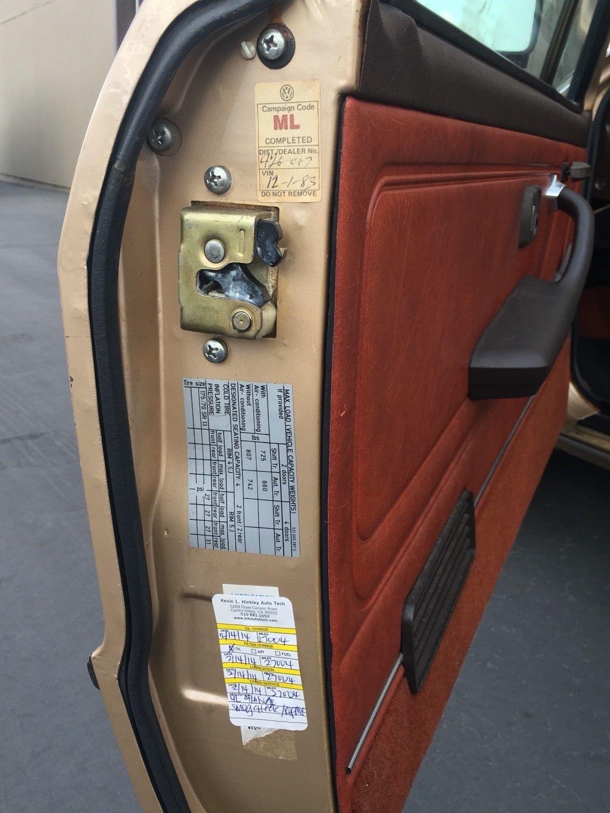 1978 Volkswagen Scirocco door