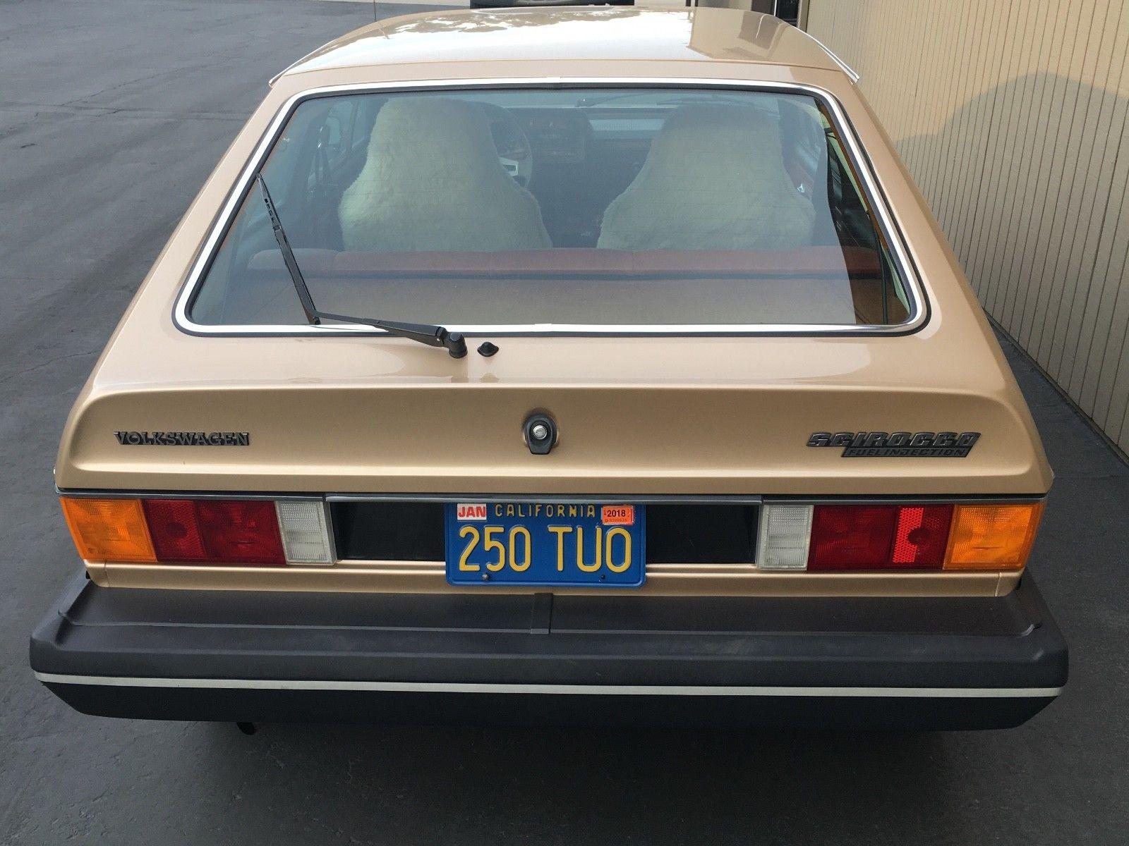 1978 Volkswagen Scirocco rear