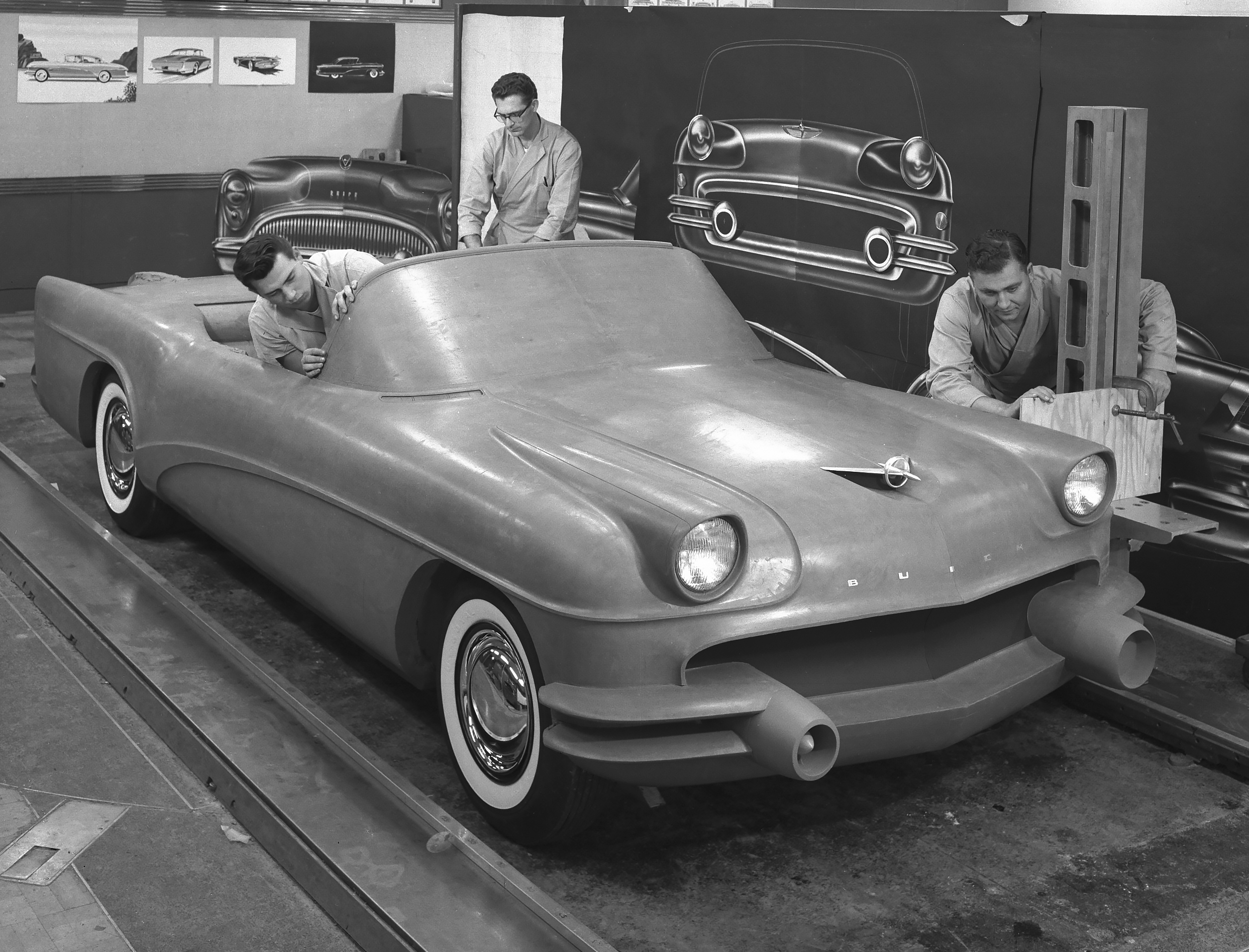1955 Buick Wildcat III Concept front 3/4
