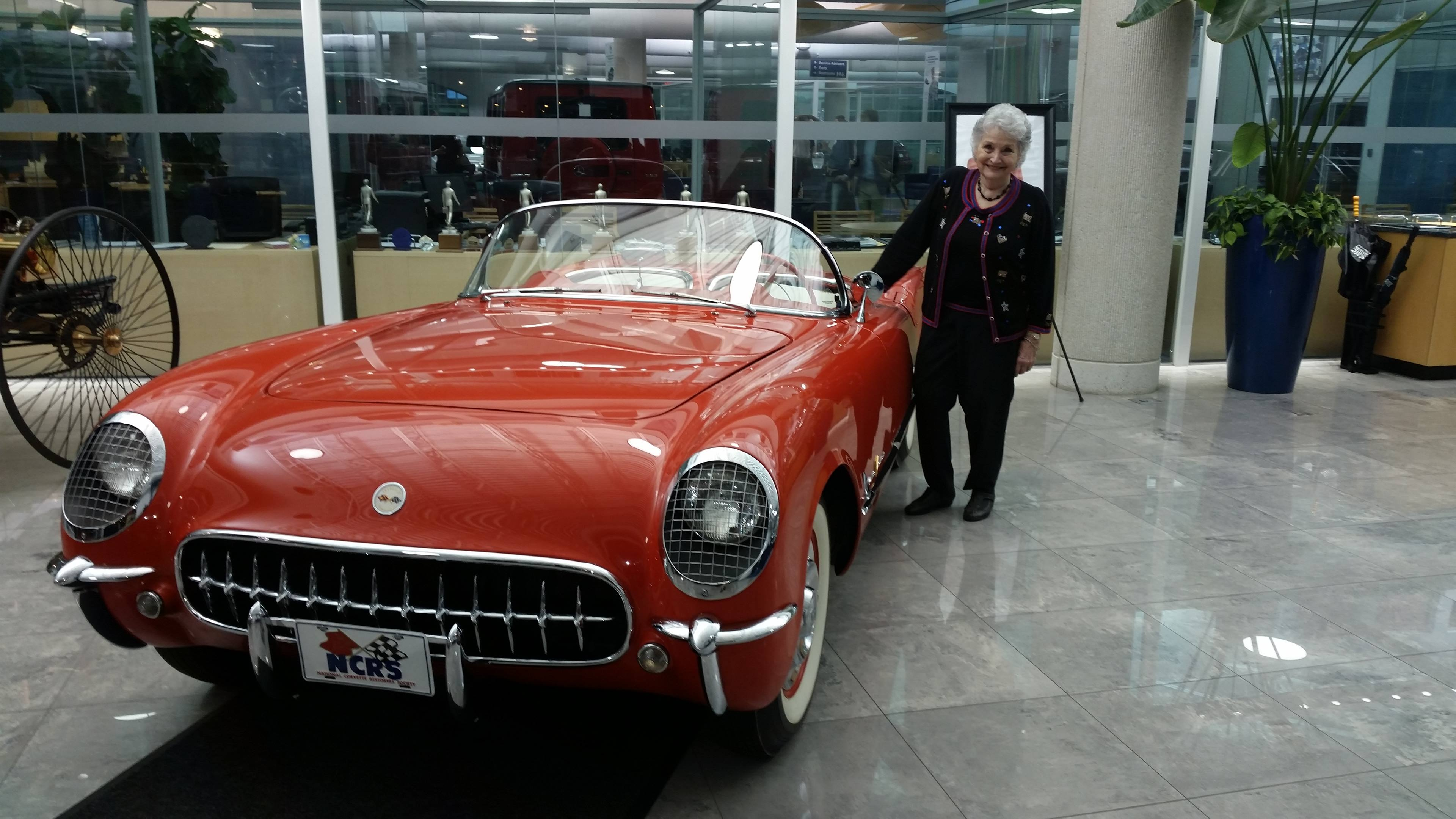 Carolyn Sikes with her 1955 Corvette