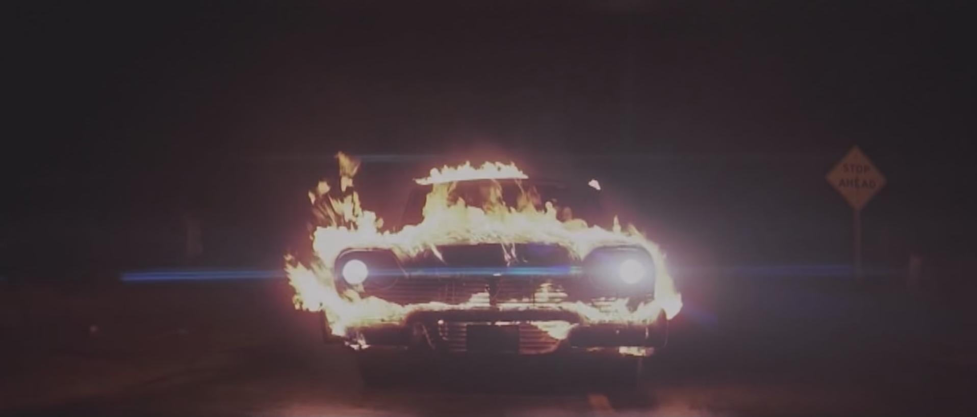 Christine on fire