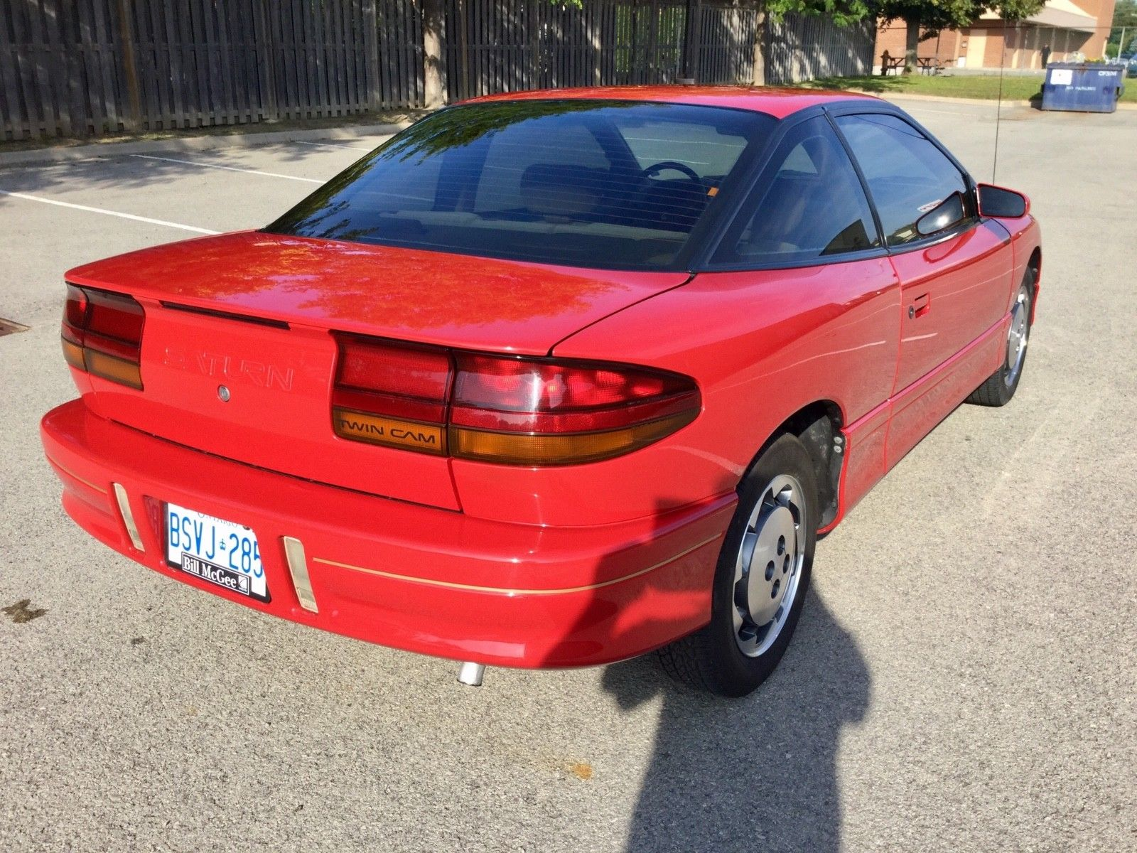 1992 Saturn SC2 rear 3/4