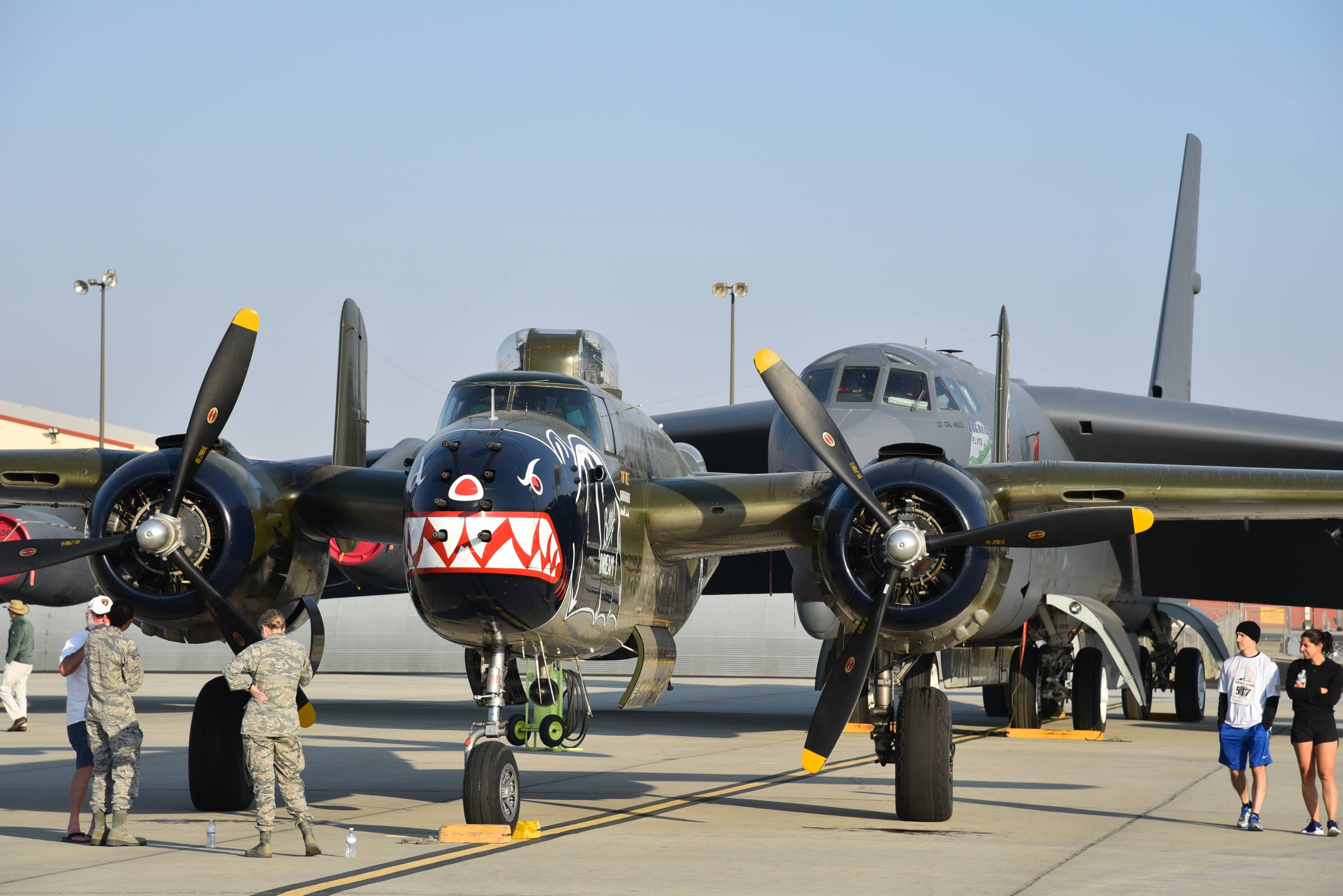 north american mitchell b25 betty's dream front edwards air force base