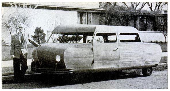 Plywood car  - Popular Science 1946