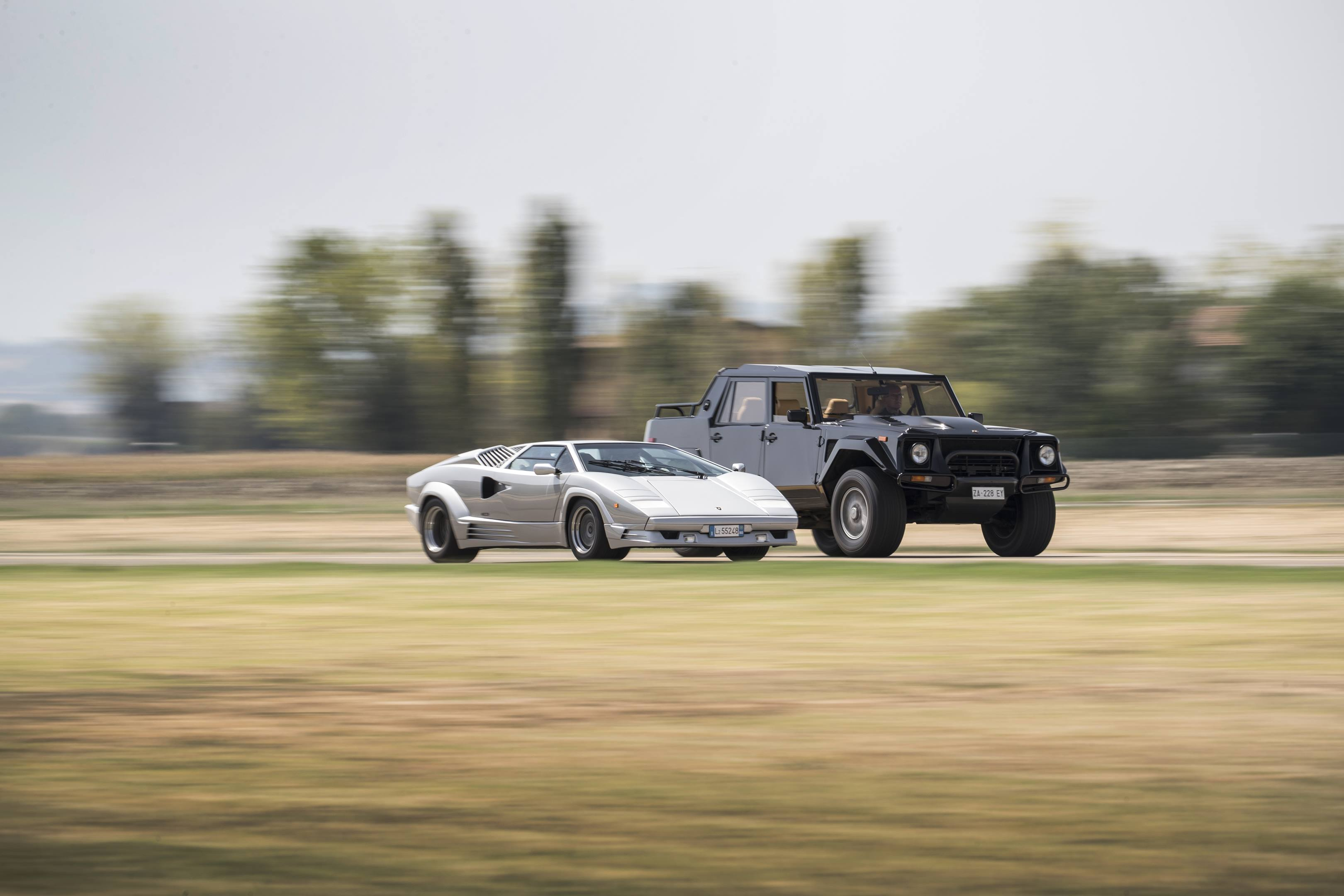 The Lamborghini LM002 shared the same engine as the Countach