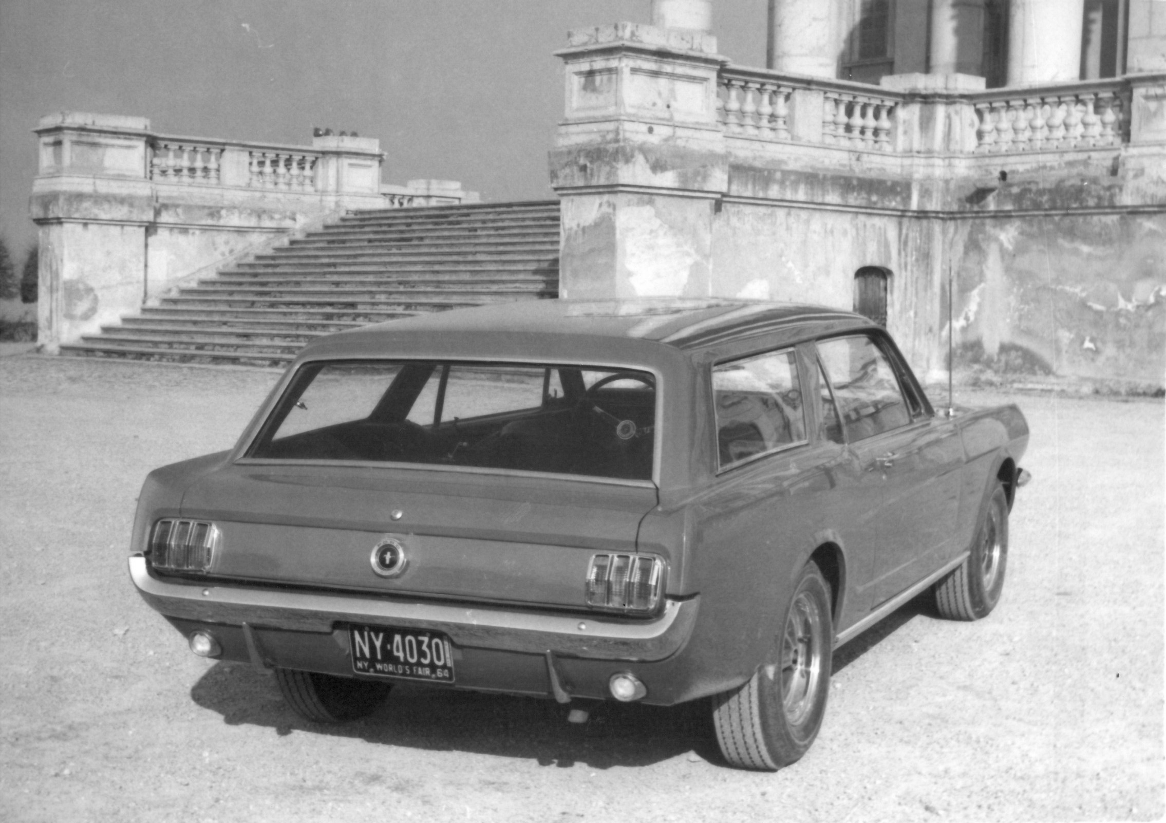 The Cumberford Mustang wagon was originally white, but he asked Construzione Automobili Intermeccanica to give it a red paint job.