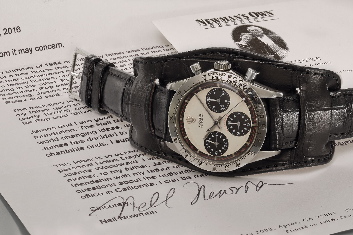 Paul Newman's 1968 Rolex Cosmograph Daytona with documentation
