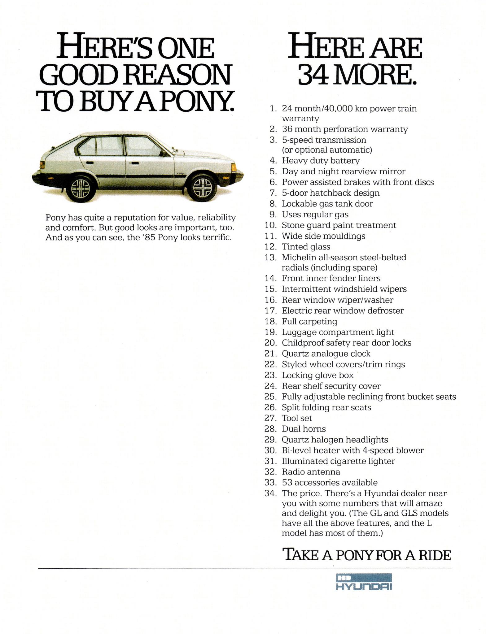 Hyundai Pony ad
