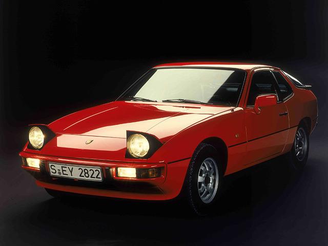 Red Porsche 924