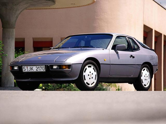Silver Porsche 924