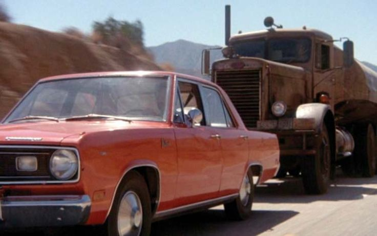 1971 Plymouth Valiant and Oil Tanker from Duel