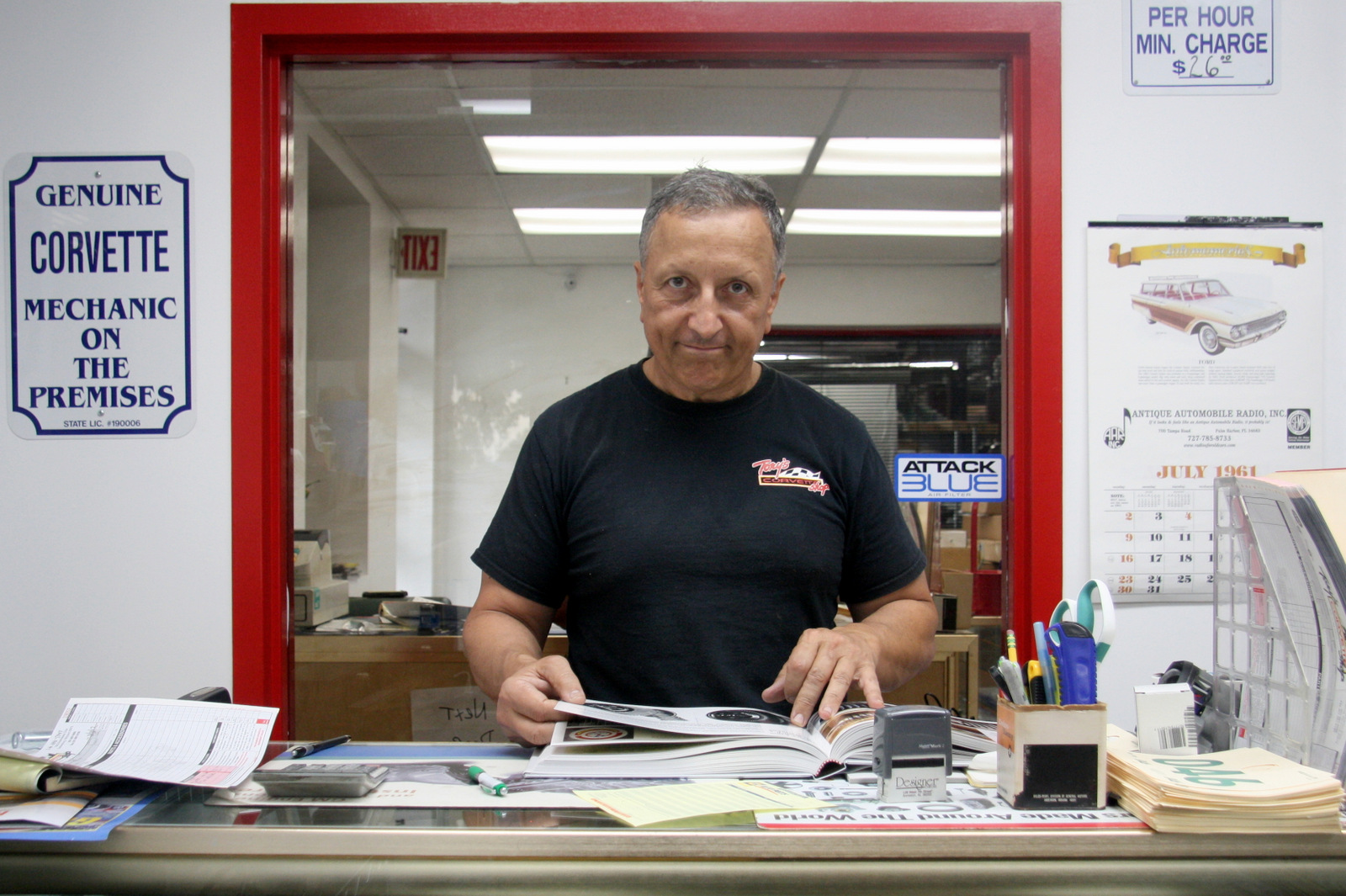 Tony Avedisian in his shop
