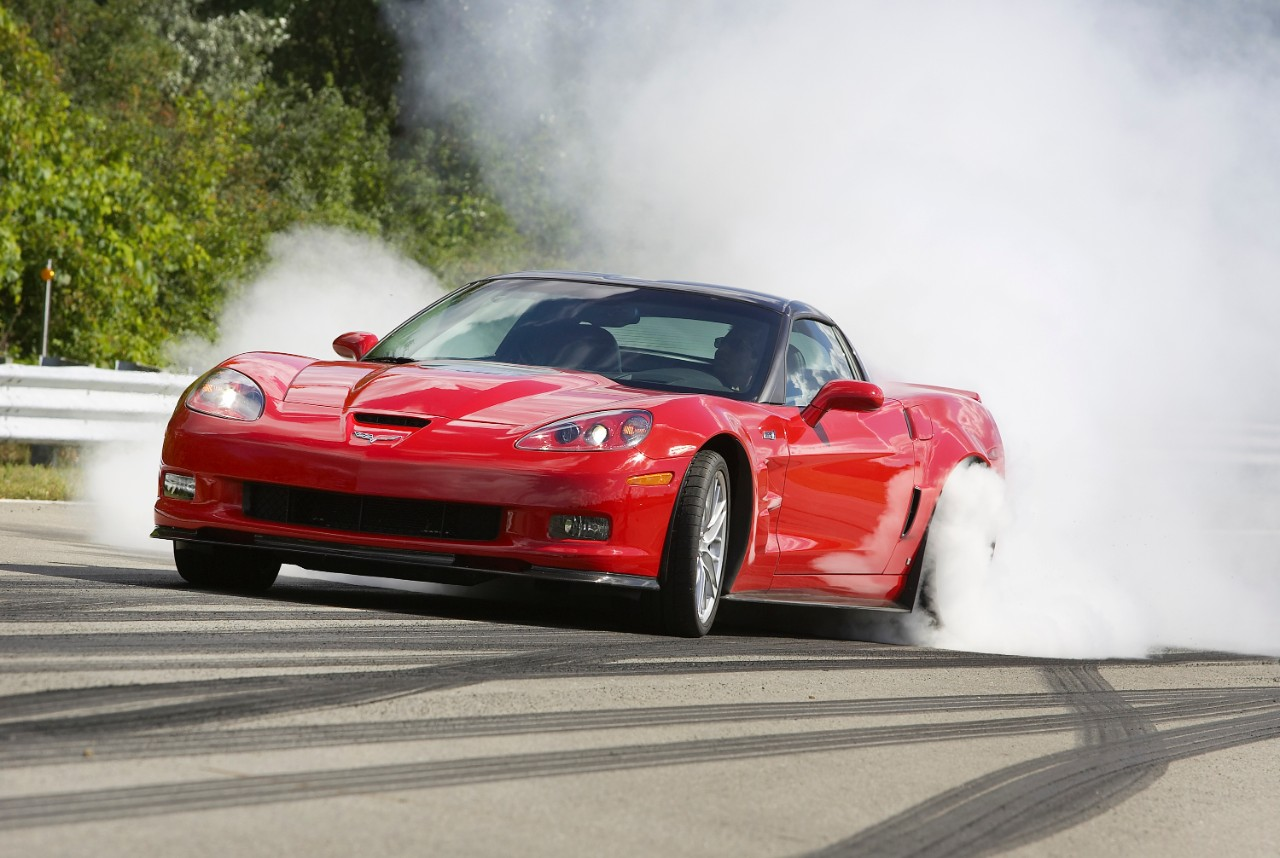 2009 Chevrolet Corvette ZR1 burnout