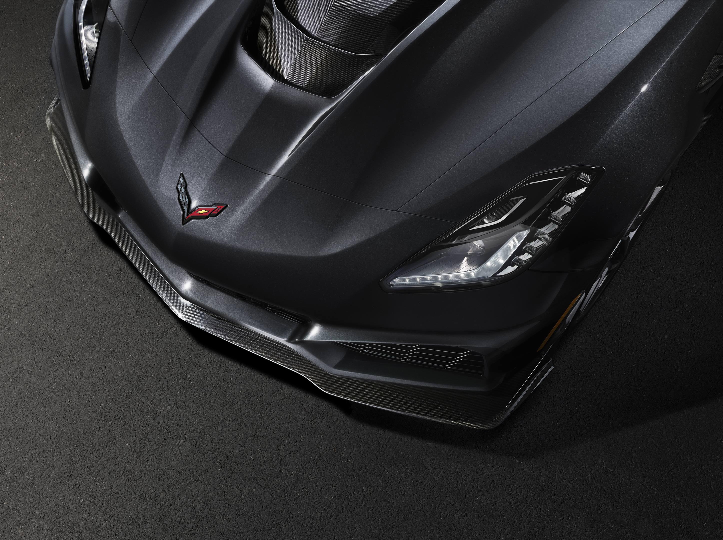 2019 Chevrolet Corvette ZR1 Front hood detail shot