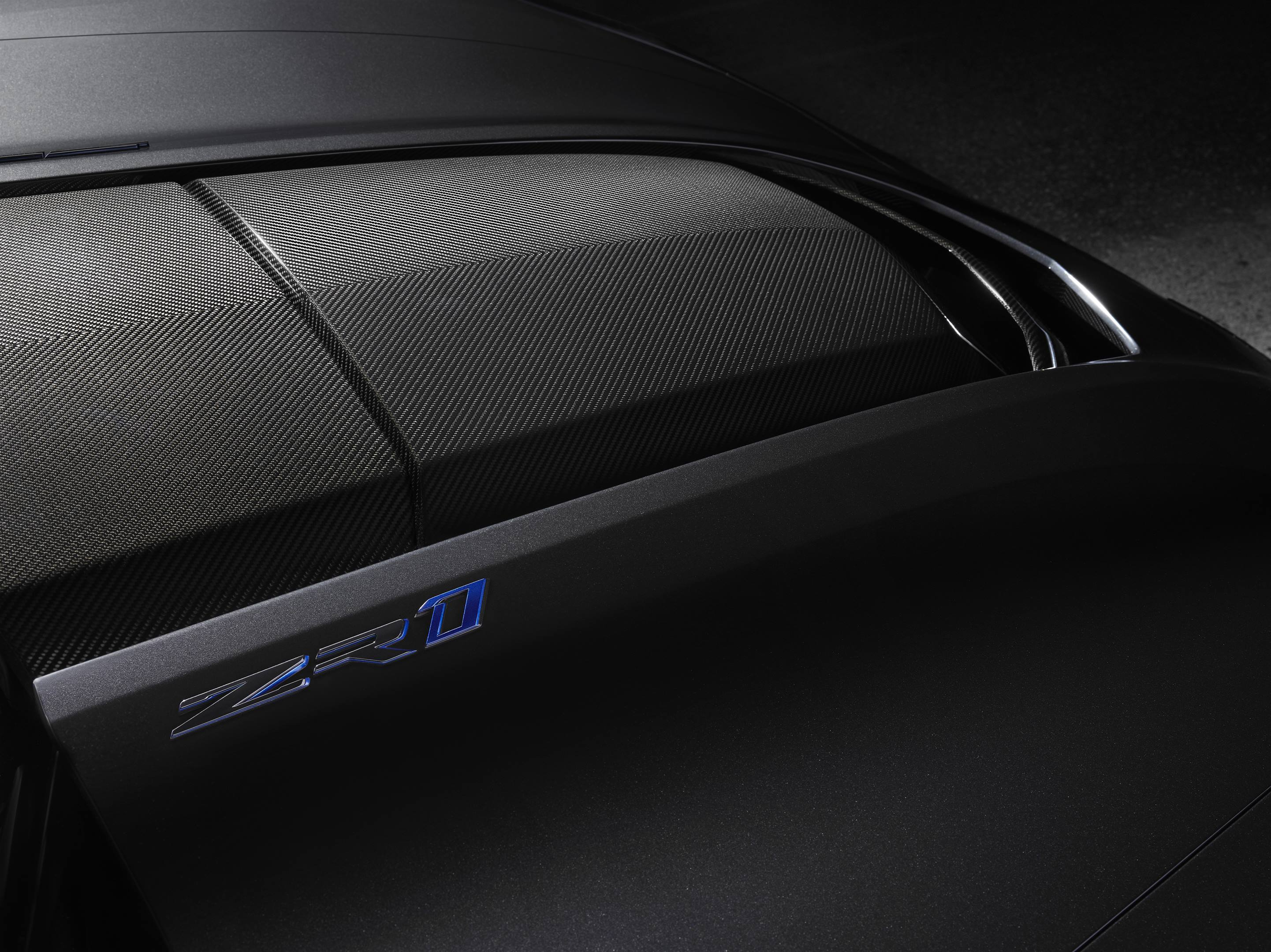 2019 Chevrolet Corvette ZR1 Hood Scoop Detail shot