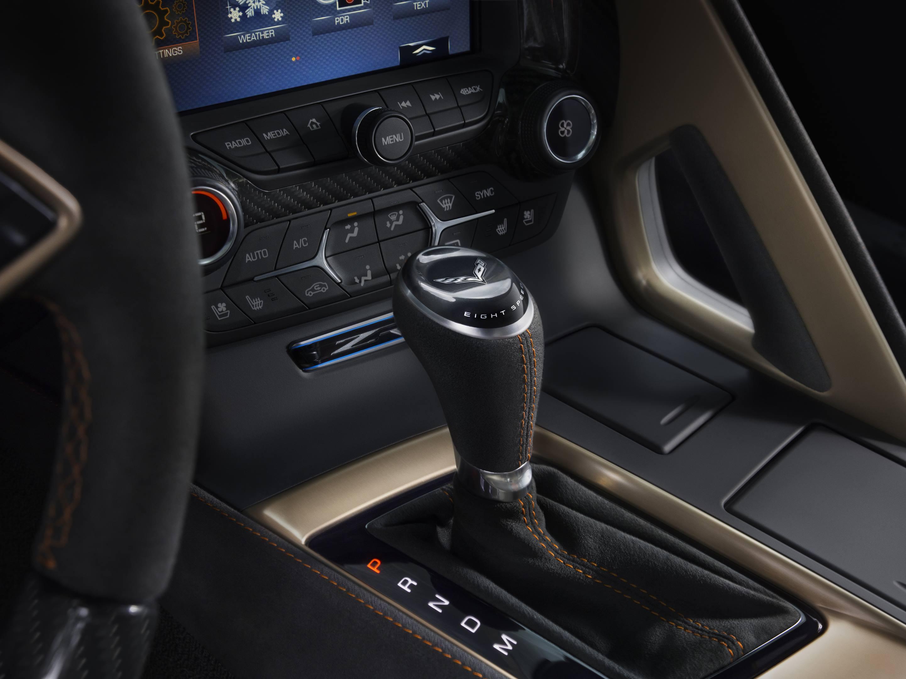 2019 Chevrolet Corvette ZR1 Shifter Console Shot