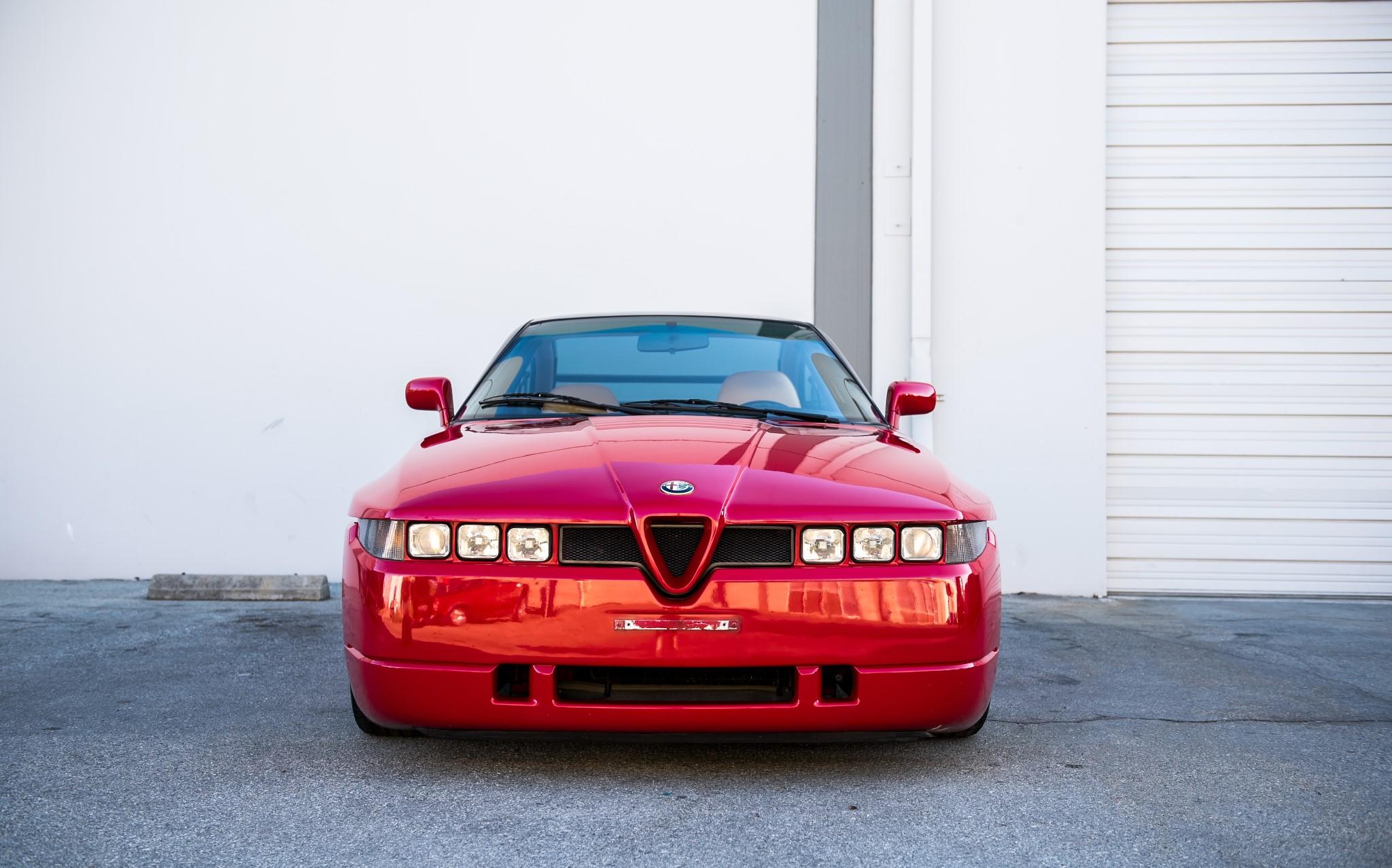 red 1991 Alfa Romeo SZ front