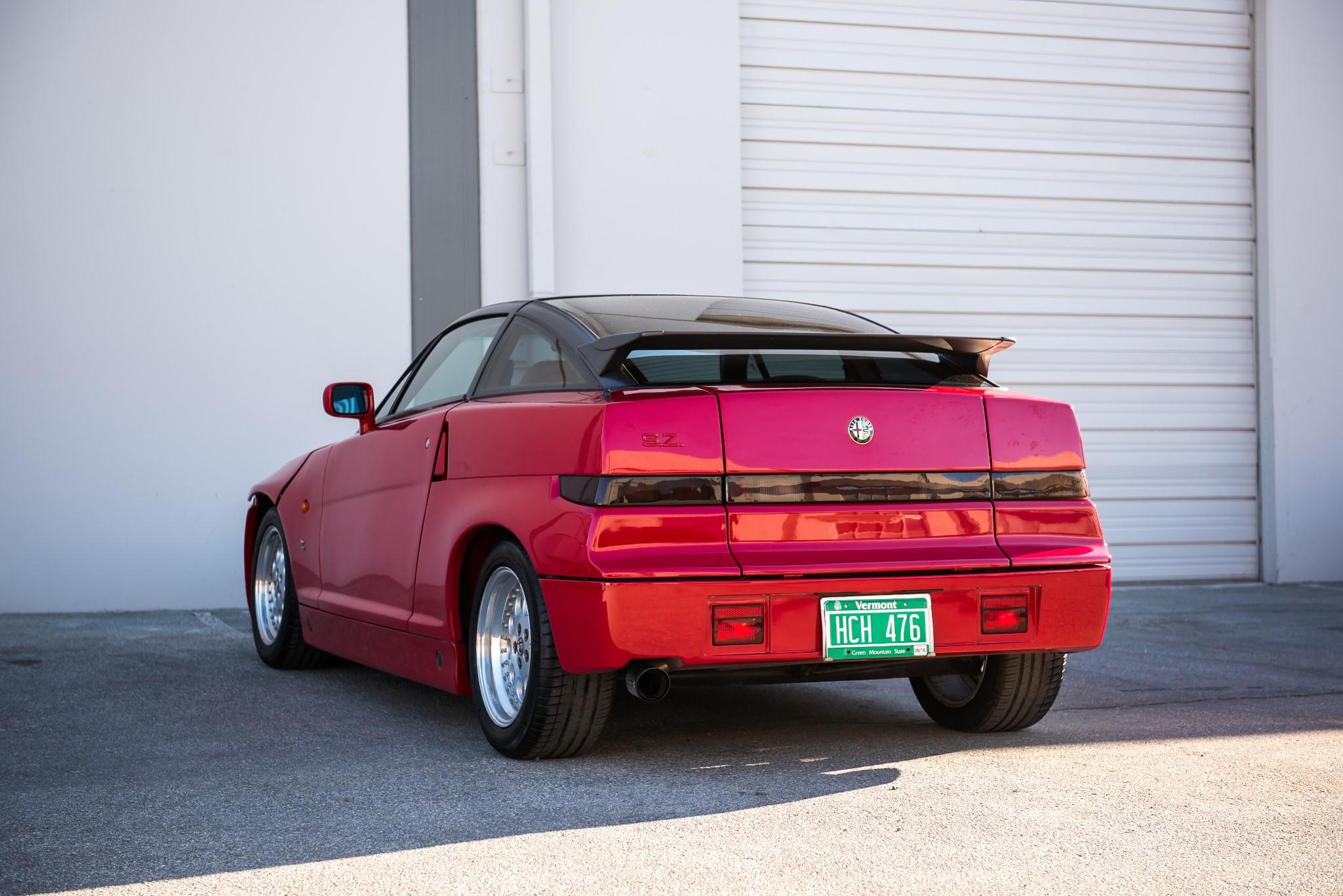 red 1991 Alfa Romeo SZ rear 3/4