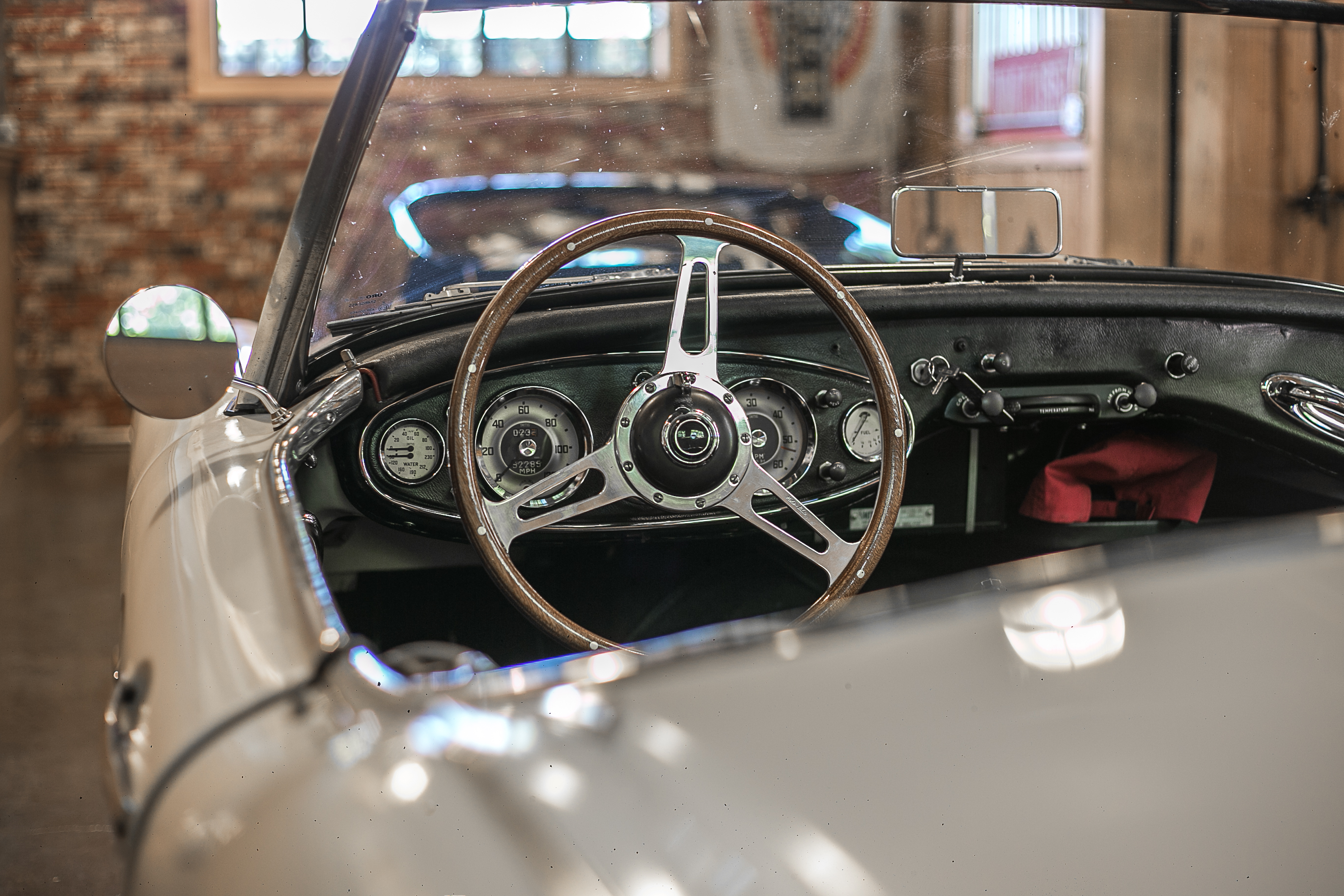 A 1960 Austin-Healey 3000 MkI at the Caccavo garage in Thousand Oaks, California.
