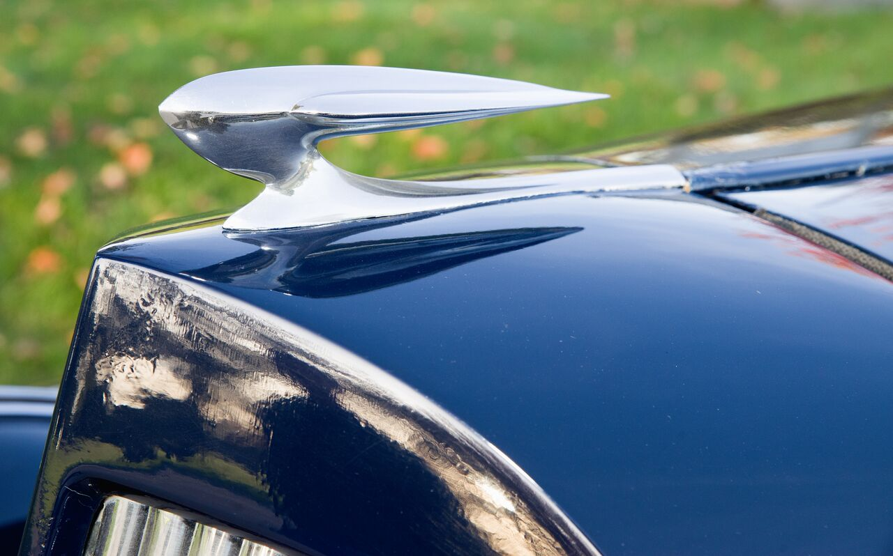 Some Packard hood ornaments are very elaborate. The version that rode on the 1935 120 is quite modest, in keeping with the car's positioning in the marque's lineup.