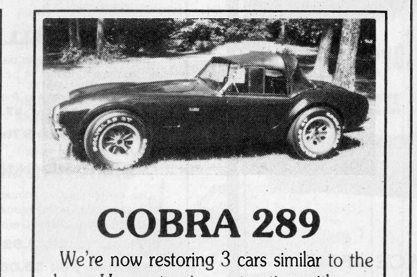 Classic Classified: 1964 Shelby Cobra 289 thumbnail