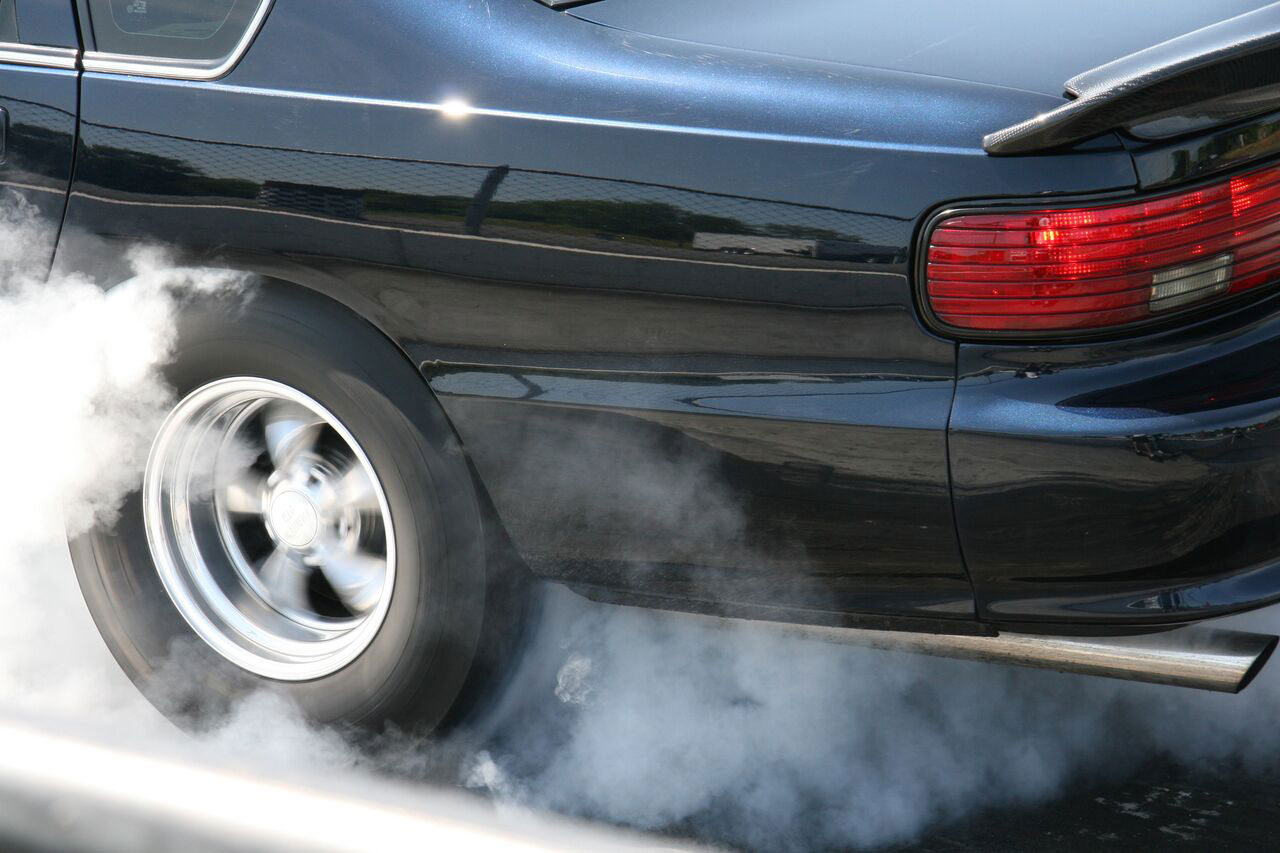 Impala SS smoking tires