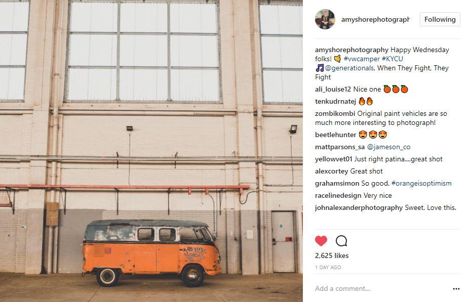 VW Bus instagram @amyshorephotography